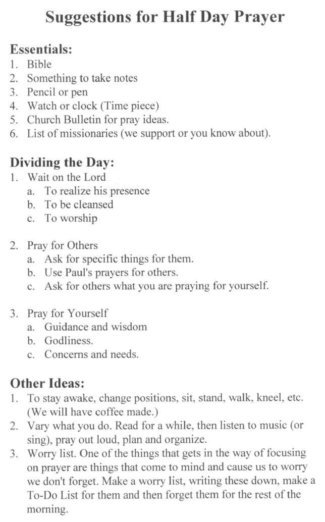 Prayer List